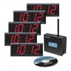 Digital clocks with master clock transmitter